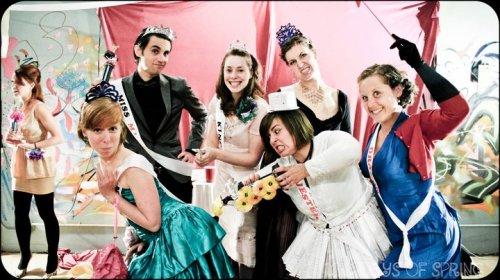 Revelers at Zoe Burton's MUNI Prom for the N Line on the MUNI Media Map.